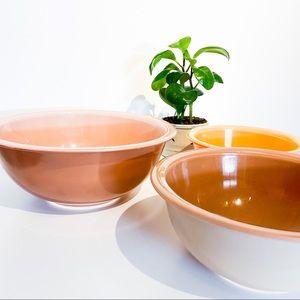 VINTAGE PYREX Autumn Rainbow Neutral Nesting Bowls